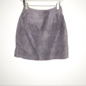 Hugo Buscati Gray Suede Mini Skirt